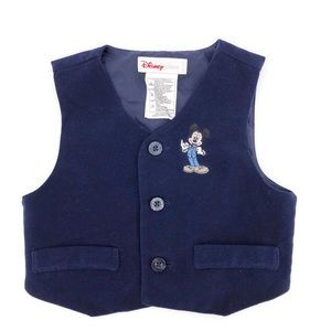 Disney Mickey Mouse Navy Velvet Vest Size 12 Month